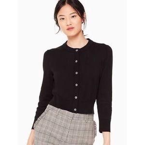 Kate Spade | Black Wool Jewel Button Cardigan